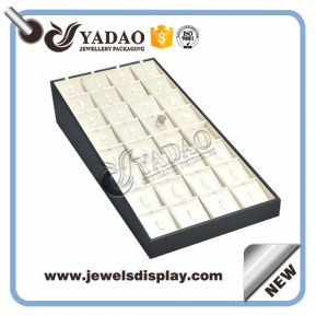 China New arrival custom handmade pu leather cover jewelry display ring display China supplier Yadao factory