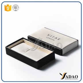 China New arrival high quality leather lid-off  pen/cufflinks multifunctional box with best effect logo printing factory