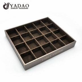 China Nicety adurable experienced workmanship MOQ wholesale with fair best price mdf leather suede jewelry displays trays/tray sets factory