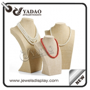 China OEM,ODM available  custom small to large size creamy fabric resin necklace bust made in Yadao factory