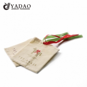 China OEM/ODM soft velvet gift pouch with drawstring and logo printing suitable for packaging gift, candle or jewelry. factory
