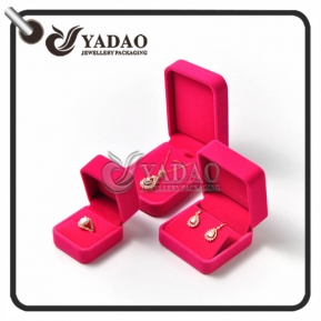 China Plastic jewelry box set for ring/earring/pendant/bracelet package with free logo printing and customized color  made in China. factory