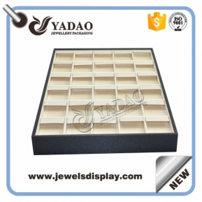 China Popular nice leather cover large earring display tray wholesale with good quality and competitive price factory