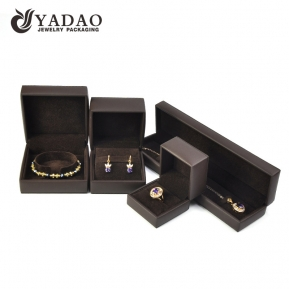 China Pu leather jewellery packages case leatherette box with free logo customized factory