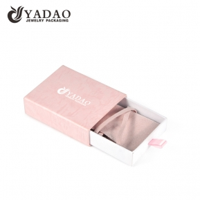 China Small China Manufacre Pink Microfiber Pouch Packaging Plastic Paper Jewelry Drawer box factory