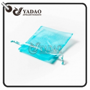 China Transparent organza pouch of all different colors and sizes with free logo printing. factory