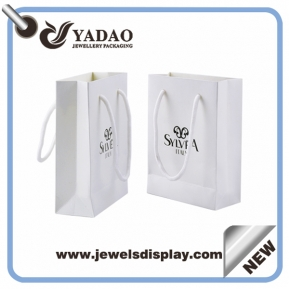 China White paper bag jewelry package for jewelry bag made in China factory