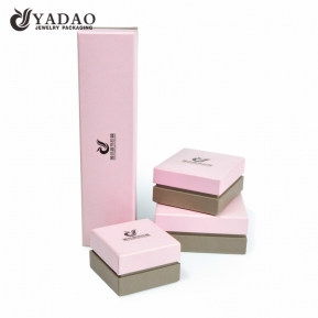 China Wholesale cute square custom logo paper cardboard jewelry box with custom size, color factory