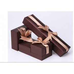China Wholesale jewelry Packaging Paper Gift Box PU leather Jewelry Packaging Box for Ring Earring Pendant Jewelry Display jewelry boxes factory