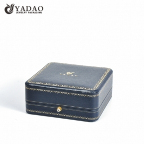 China Wholesale luxury handmade new design custom logo size color leather jewelry box for ring/bracelet/necklace/bangle factory