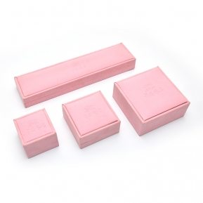 China Yadao Custom Jewelry Case Box Pink Leather Jewelry Box factory