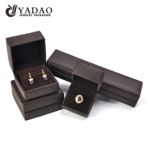 China Yadao High Quality Fashionable Modern Style Pu Leather Cover Jewelry Box Set factory
