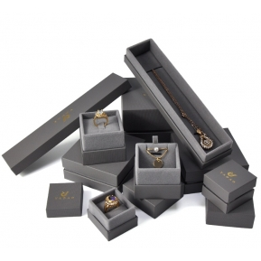 China Yadao Luxury Grey Fancy Custom Logo Printing Paper Packaging Box Jewelry Box Set factory