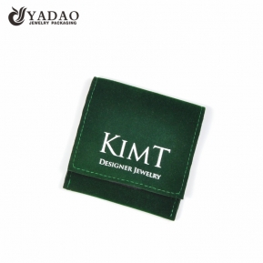 China Yadao Manufacture Microfiber Green Custom Stick Jewelry Pouch factory