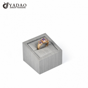 China Yadao custom color style ring display jewelry packaging wooden handmade ring display stand factory
