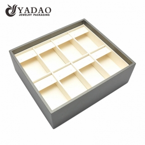 China Yadao custom stackable PU leather jewellery showcase trays earring jewelry trays factory
