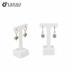 China Yadao custom white jewelry display stand earrings stand acrylic jewelry display factory