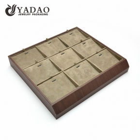 China Yadao pendant tray necklace earring tray with mobile bearing for jewelry display factory