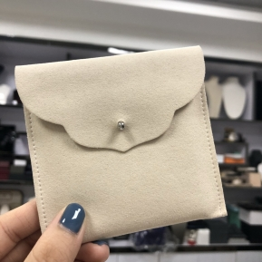 China Yadao mircofiber jewelry pouch packaging bag with velvet inside pad for pendant factory