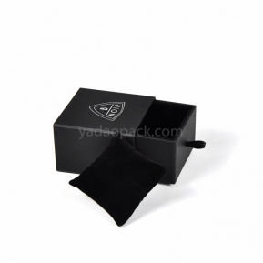 China black drawer box black jewelry box for ring/pendant/necklace/bracelet/bangle with pillow factory