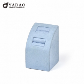 China camber design ring display stand slot ring display holder wrapped by microfiber soft slot insert  factory