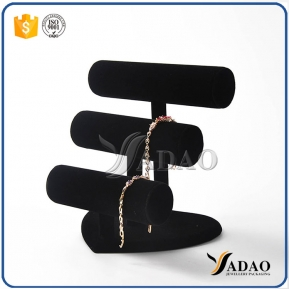 China classical magical delicate adurable lightweight heart pedestal mdf bracelet/bangle/watch display stands customized by Yadao factory
