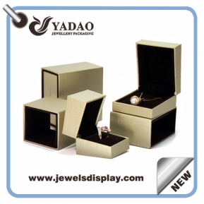 China custom handmade jewelry display box set leatherette box with free sample free logo factory