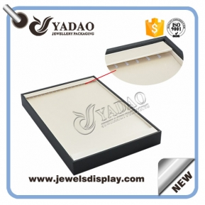 China customize handmade wooden jewelry display tray display necklace chain bracelet with hook in jewelry tray factory