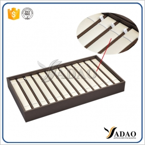 Кита customize wooden jewelry display tray stackable tray display bracelet movable insert bracelet display tray pu leather cover завод