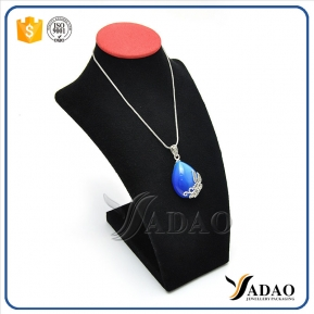 China customized jewellery leatherette display bust for necklace and pendant factory