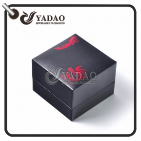 China dark/customized color delicate luxury style fair competitive price leather/paper /velvet ring box wholesale factory