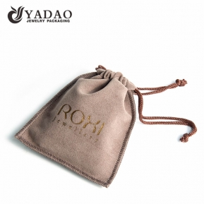 China delicate good touch soft wholesale handmade stitching double velvet jewelry pouch factory
