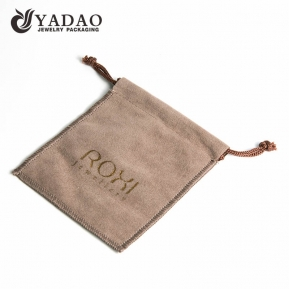 China easy-to-carry soft nice stitching gentle protable suede/velvet/linen jewelry pouch/gift pouch popular in Europe and America factory