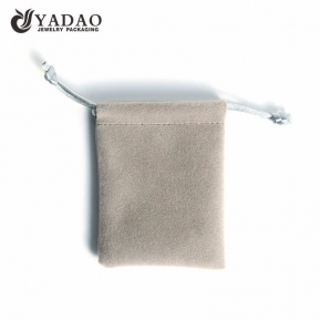 الصين مصنع elegance customized handmake  luxury jewelry packaging punch bag cheap in linen/suede/velvet material
