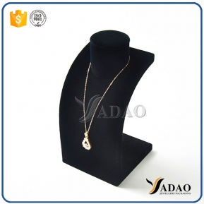 China fire-new solid top quality  fancy everlasting competitive price wholesale velvet necklace bust for necklece/pendant display factory