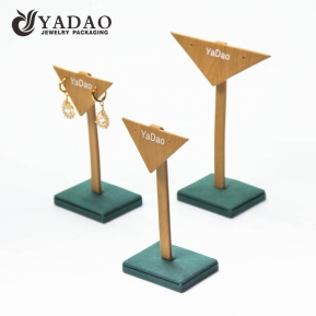 China green environmental handmade western style small big size being displaying earring stands/earring holder factory