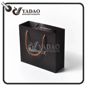 China high-end modern top quality elaborately perfect nicety paper/shopping bags for packaging shoes/clothes/gifts/candles factory