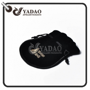 China high-end modern top quality elaborately perfect nicety velvet pouch with half circle buttom for jewels factory