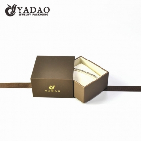 China high quality finish plastic jewelry box drawer pillow bracelet watch packaging box with ribbon tie factory
