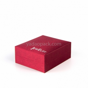 China jewelry box with custom material/color for jewelry packing factory