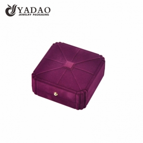 China jewelry flocking/velvet box with colorful color factory