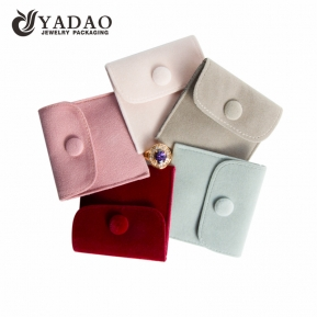 China mini velvet silk pouch for pendant rings jewelry organizer with button factory