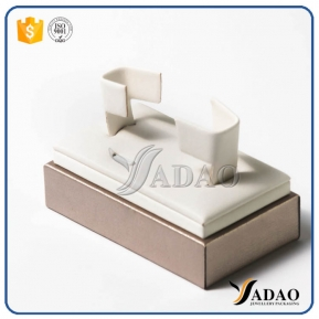 China fresh well-design wholesale custom jewelry display stands mdf covered with velvet for bangle from Yadao factory