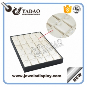 China new made stackable wooden jewelry display pendant display tray customize factory