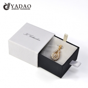 China paper jewelry box drawer box pendant wholesale paper box with customized logo factory