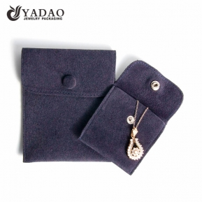 China pretty elegant handmade sale by bulk colorful soft nicety velvet jewelry pouch with button factory