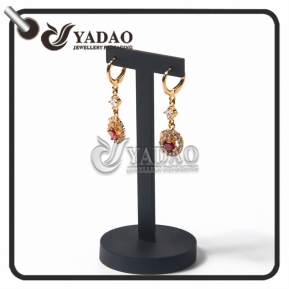 China simple long-lasting small CBM comfortable universal exquisite luxury mdf +lacquer finish/velvet/leatherette paper earring display stands factory