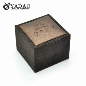 China suede jewelry box with PU leather factory