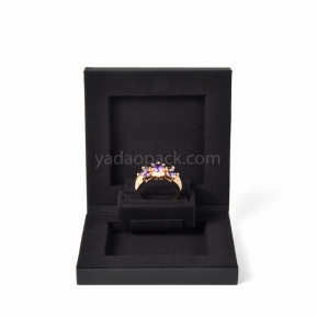 China thin ring box new design ring box with customized materialjewel factory