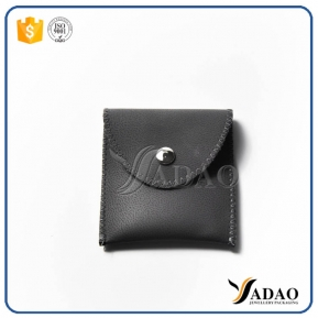 China unique custom embossed logo wholesale delicate samll size jewelry pouch leather pouch factory